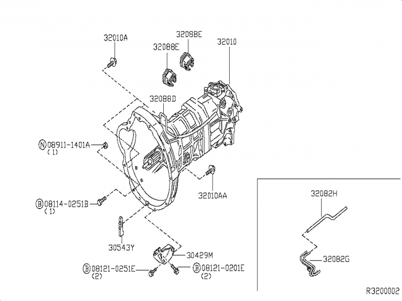 nissan manual transmission parts