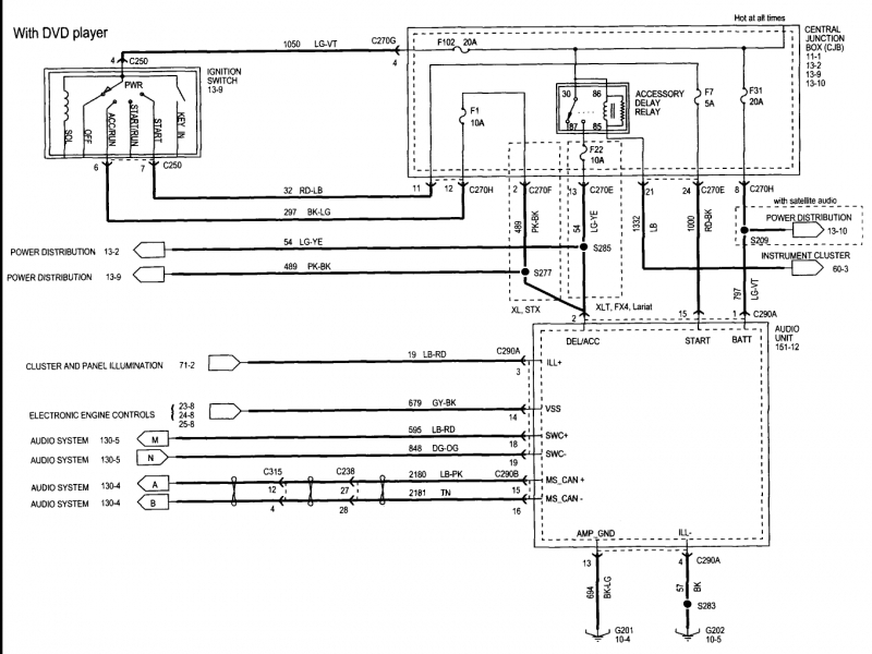 2005 Ford F 150 Radio Wiring Diagram 2004 F150 And 2006 : 2006
