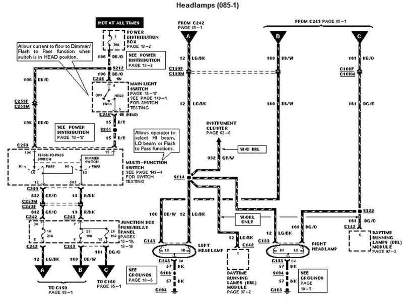 Wiring Diagram: 14 2003 Ford Explorer Radio Wiring Diagram