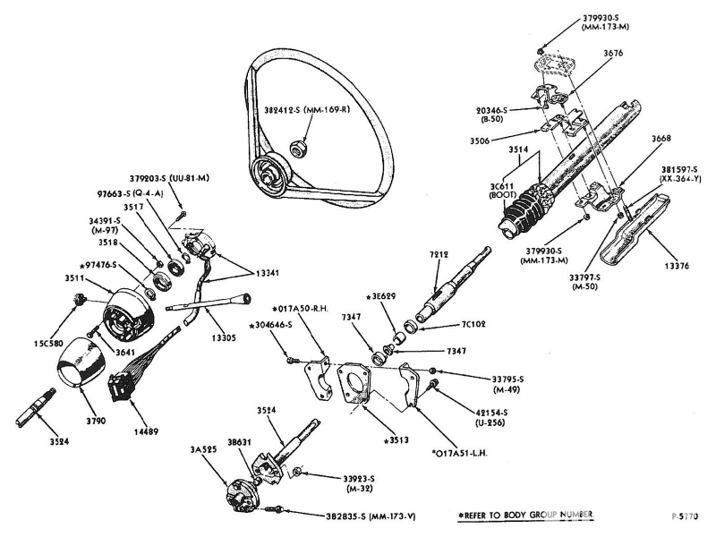 Non Tilt Steering Column Rebuild Few Questions Vintage on 1963 Ford F100 Wiring Diagram