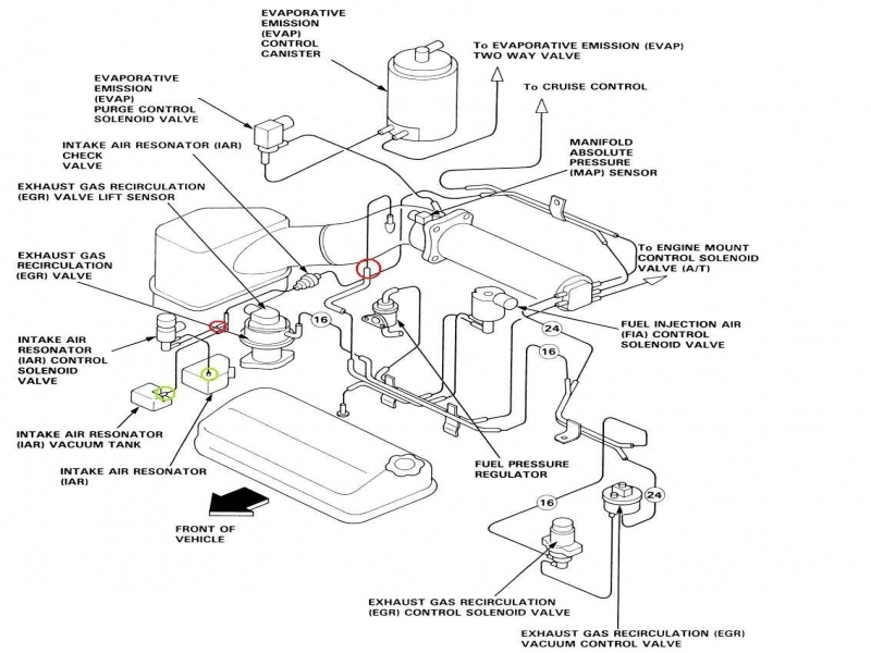 1995 Honda Accord Lx Engine Diagram