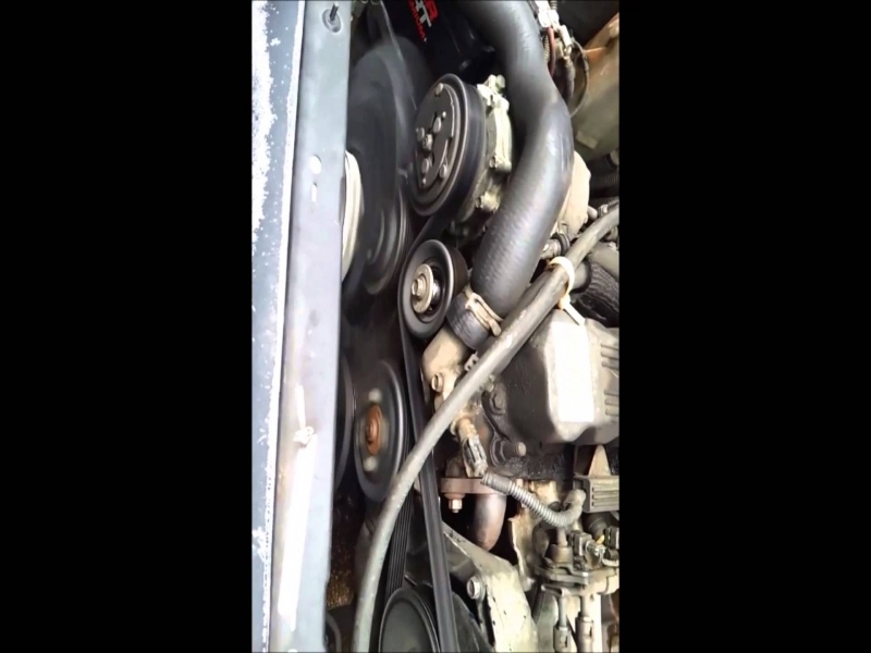 95 Jeep Cherokee Idler Pulley Replacement Serpentine Belt - Youtube