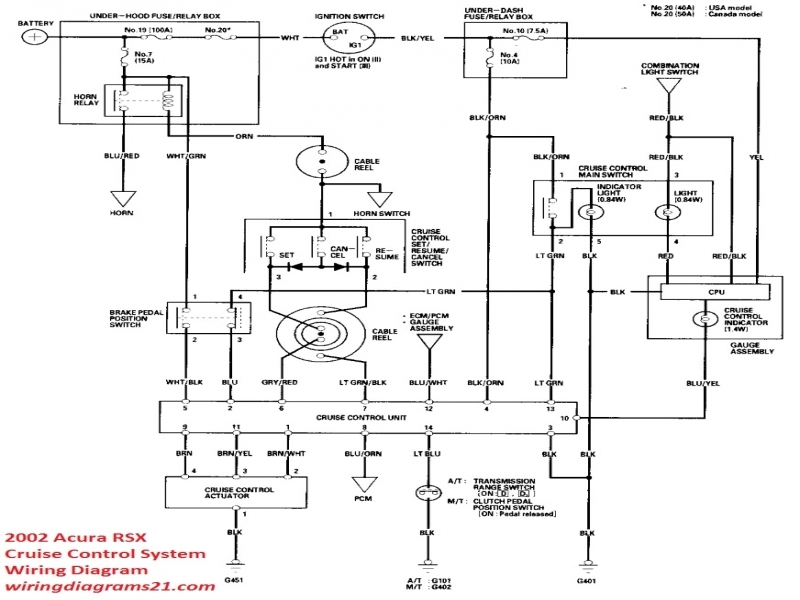 acura rsx cruise control system wiring diagram