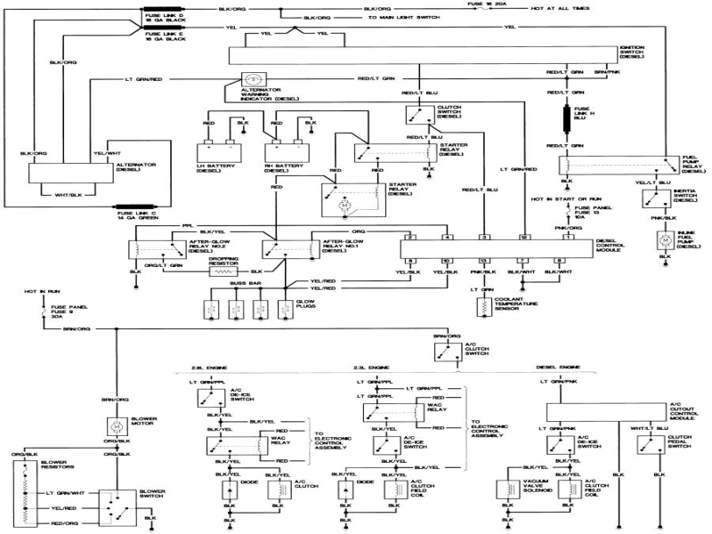 1988 Ford Ranger Wiring Harness • Wiring Diagram For Free