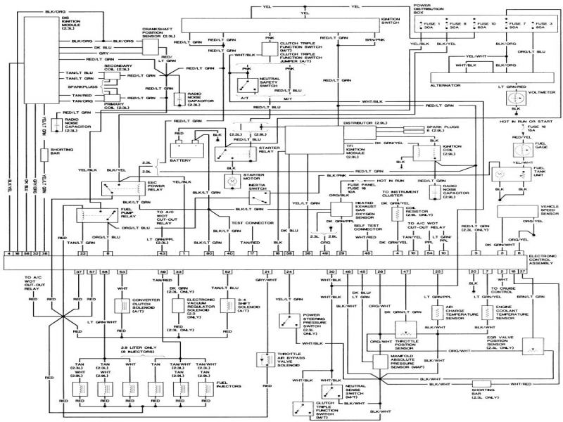 1984 ford thunderbird wiring diagram