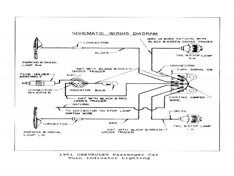 1954 Chevy 210 Car Turn Signal Diagram