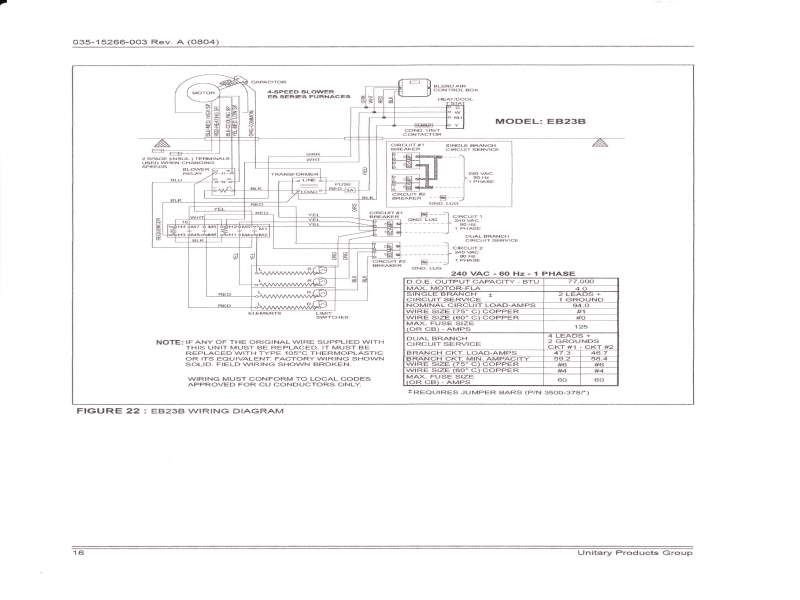 Coleman Evcon Wiring Diagram. Blower Runs With No Heat