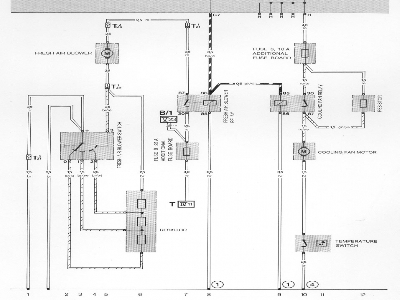 Temperature Cooling Fan Wiring Diagram