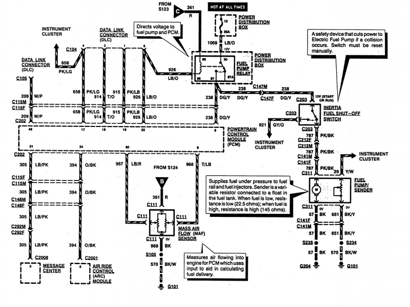 Ford Explorer Fuel Pump Wiring Diagram