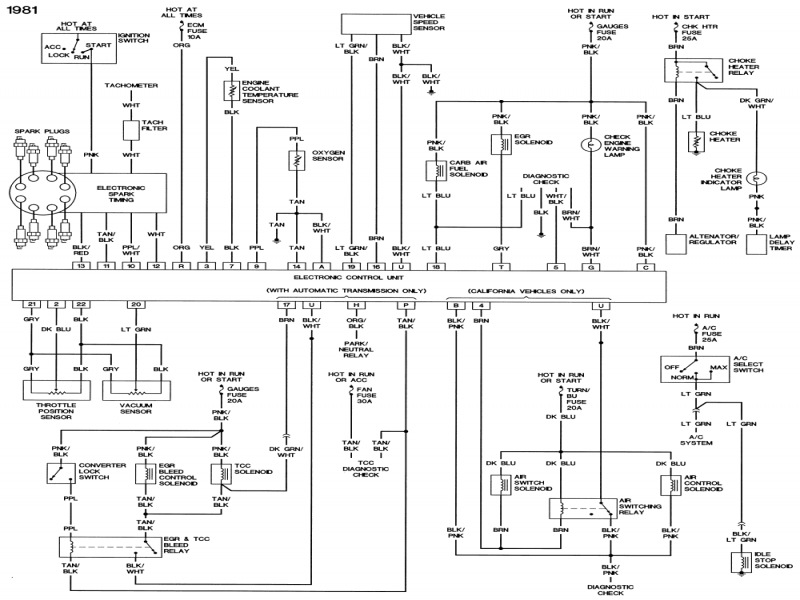 1980 Corvette Wiring Diagram  Wiring Forums
