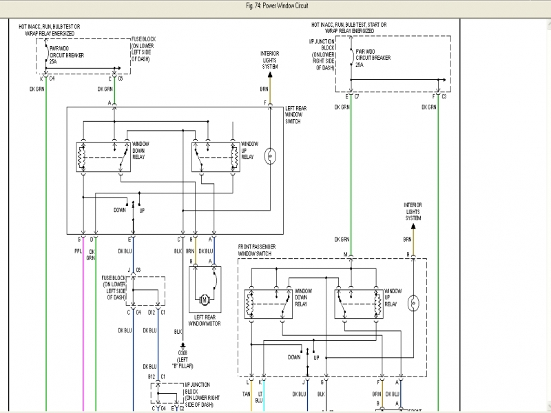 2001 Chevy Tahoe Electric Window Diagram  Wiring Forums