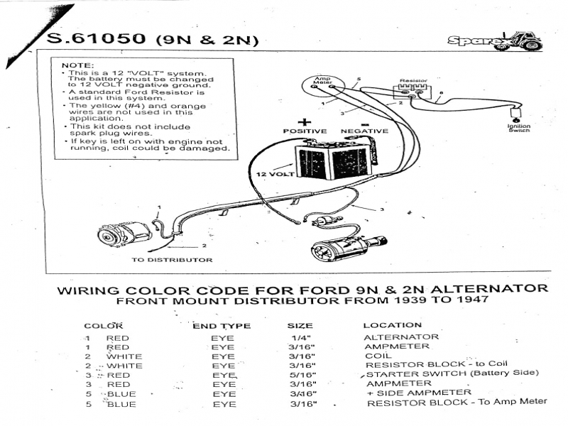 8n Ford Wiring Diagram : Ford n tractor wiring diagram parts and diagrams