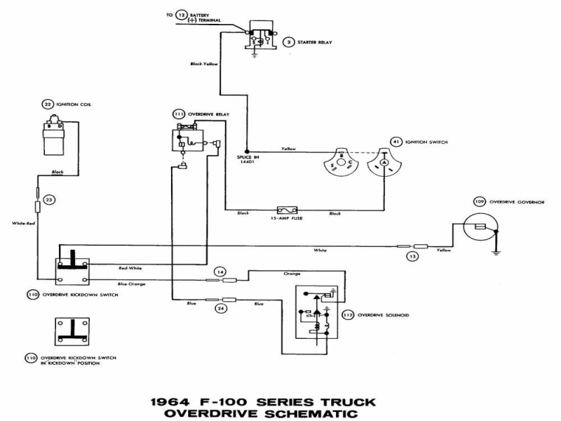 1964 Ford F100 Truck Wiring Diagram