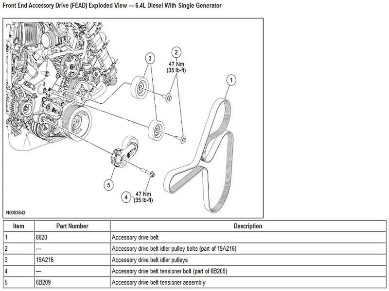 Ford F150 & F250 How To Replace Idler And Tension Pulleys - Ford