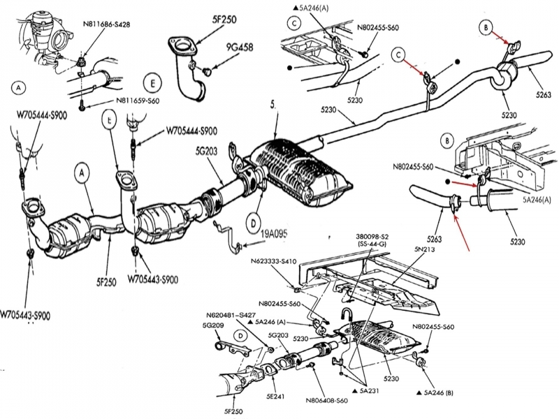 Ford Focus Exhaust System Diagram - 28 Images - 98 Ford Explorer