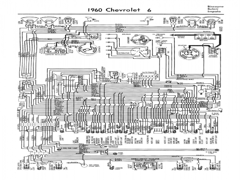 Contemporary 1960 Impala Wiring Diagram Pattern - Electrical and ...