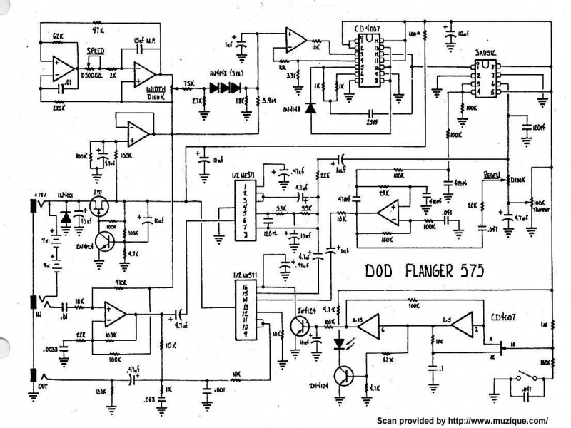 guitar effects schematics diagrams