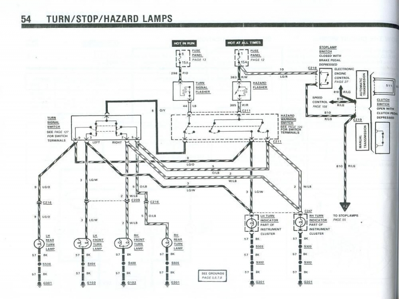 1987 Mustang Turn Signal Wiring Diagram
