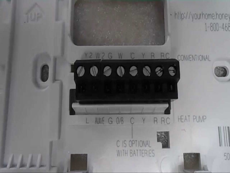 Honeywell Thermostat Installation And Wiring - Youtube