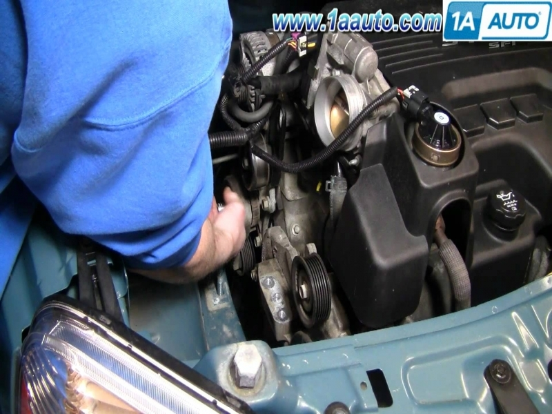 How To Install Replace Serpentine Belt Tensioner Chevy Equinox 3.4