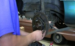 How To Replace Install Rear Drum Brake Shoes 1998-03 Ford Escort