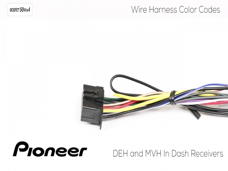 How To - Understanding Pioneer Wire Harness Color Codes For Deh