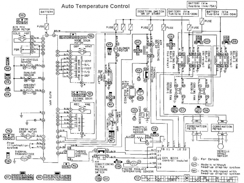 2000 infiniti i30 cooling fan wiring diagram