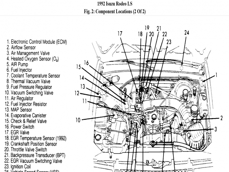 1997 Isuzu Rodeo Engine Diagram