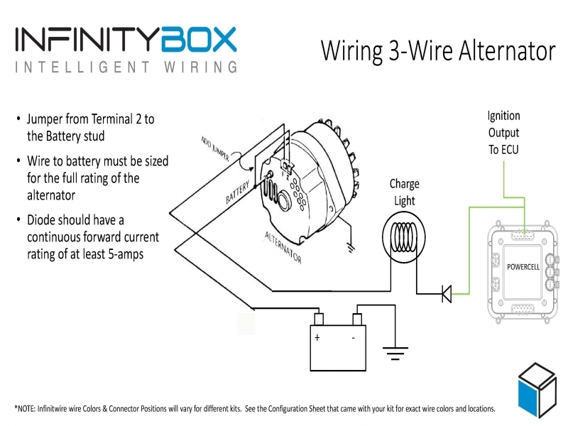 Twin Alternator Wiring Diagram : Alternator charge wire boat wiring diagram forums
