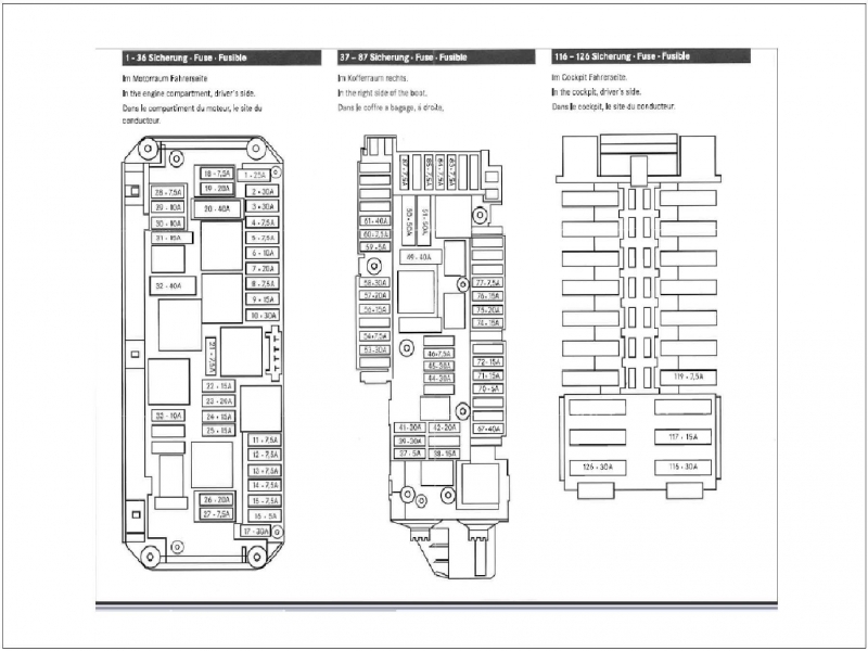 Mercedes Benz 190E    Fuse    Box    Diagram     Wiring Forums