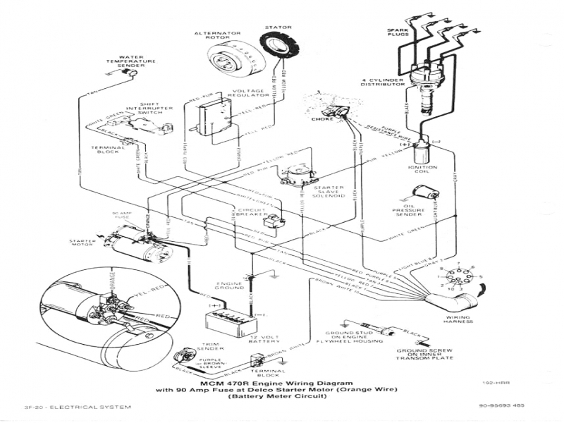 mercruiser 4 3l wiring diagram