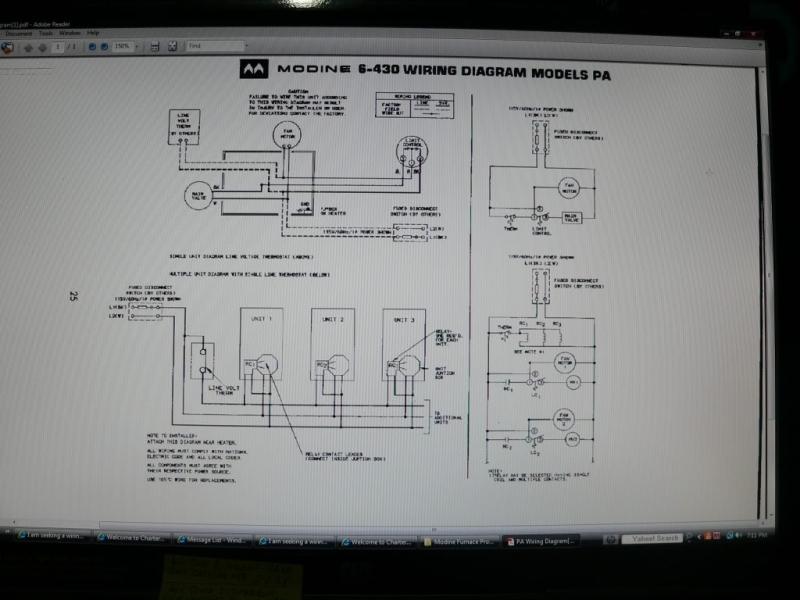 modine wiring diagram white rodgers thermostat 1f78 garage heater - forums