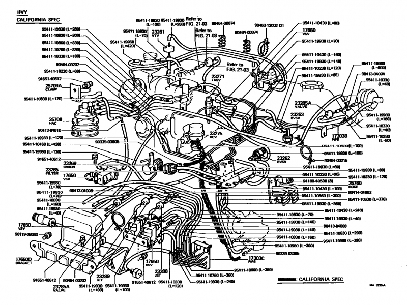 1994 Toyota 22re Vacuum Hose Diagram
