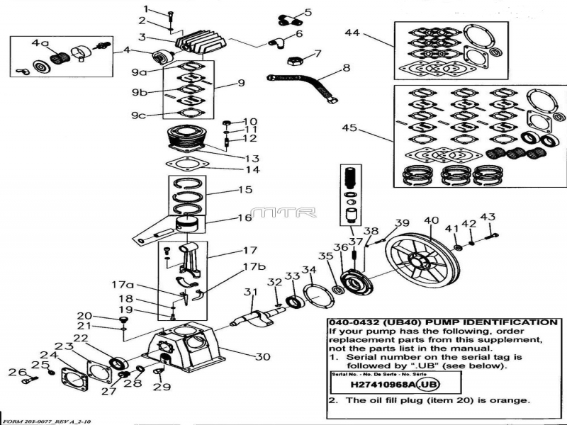 Repair Parts For The Coleman Powermate Model Sla4708065