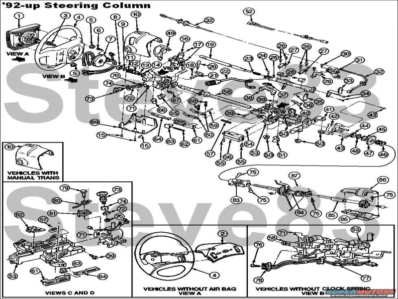 1995 Ford F350 Steering Column Diagram