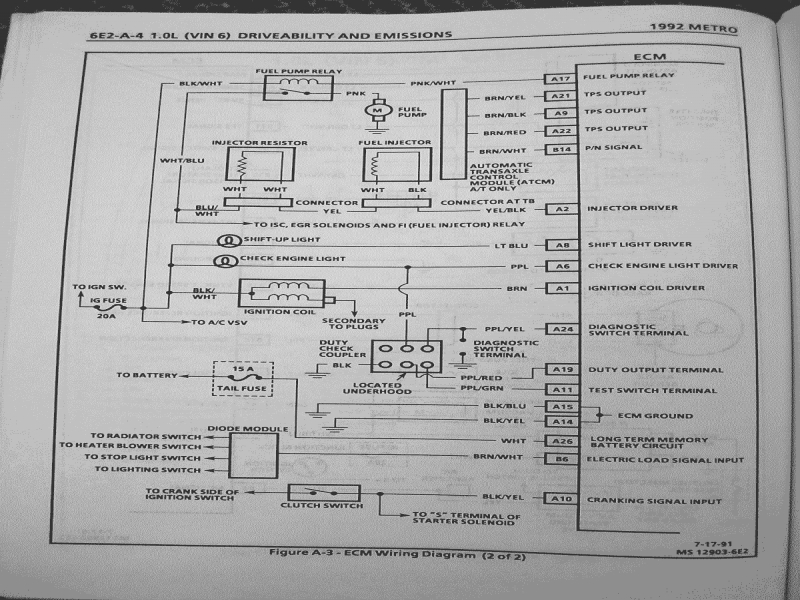 Teamswift • View Topic - Geo Metro Factory Service Manual Pics