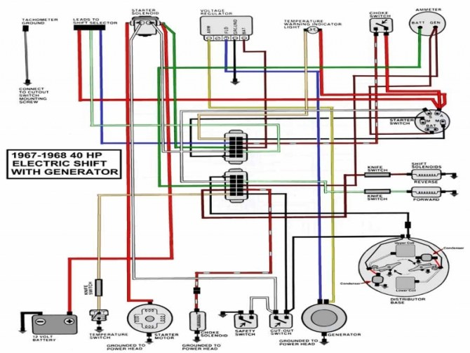 wiring diagram 40 hp mercury outboard  ge electronic
