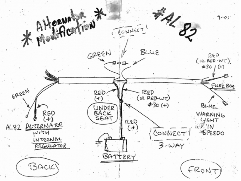 vw bug alternator conversion wiring diagram