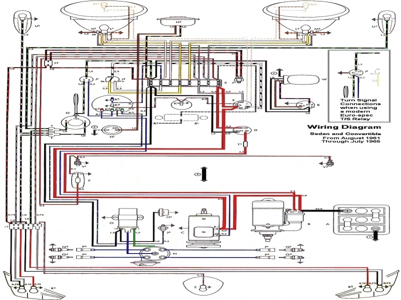 Thesamba Com Type 1 Wiring Diagrams And Turn Signal Relay Diagram