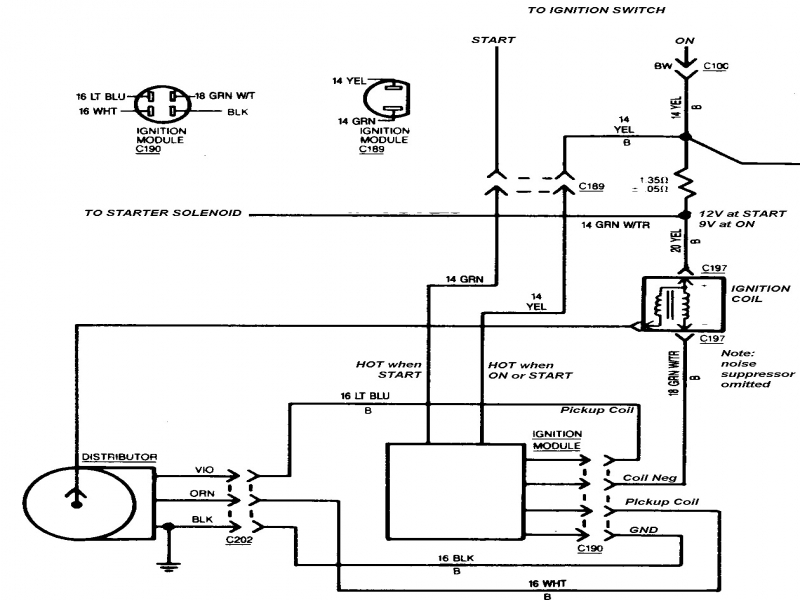 Ignition Wiring Diagram Chevy 350 / gm hei distributor and