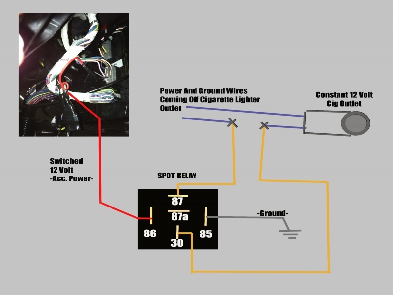 cigarette lighter socket wiring diagram 12 volt power outlet wiring diagram - wiring forums #8