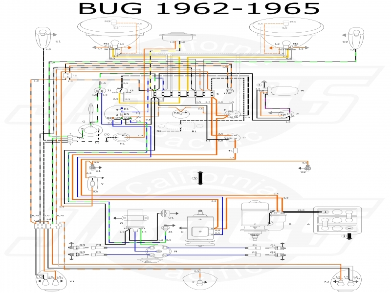 Wiring Diagram For A 1965 Vw Beetle - Wiring Forums