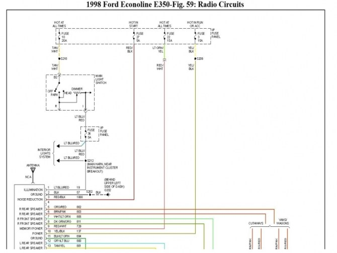98 ford e350 wiring diagram free picture  more wiring