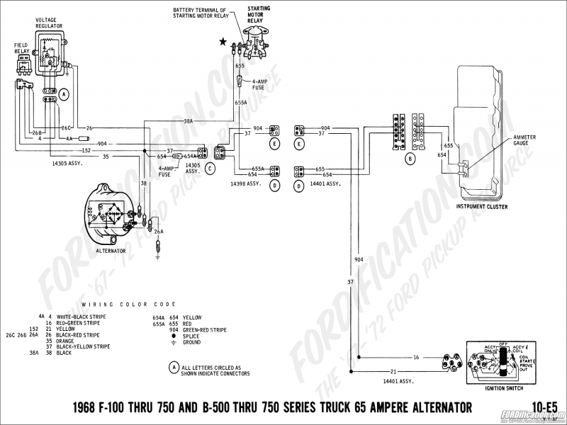 Ford Alternator Wiring Diagram Internal Regulator  Wiring