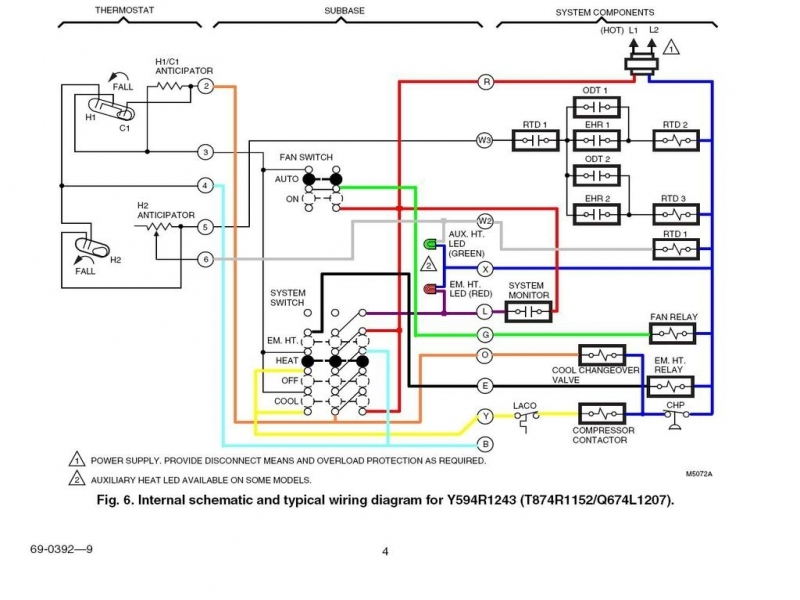 2 Stage Honeywell 6000 Thermostat Wiring Diagram  Wiring Forums