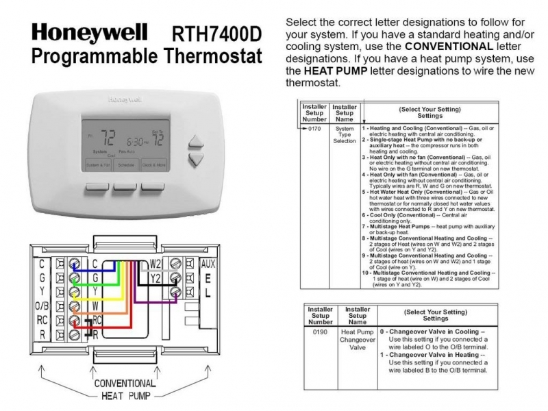 2 Stage Honeywell 6000 Thermostat Wiring Diagram  Wiring Forums