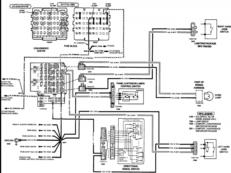 vehicle diagram suburban wire 1990 chevrolet