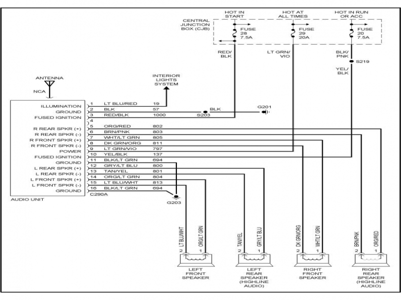 2004 Ford Ranger Radio Wiring Diagram