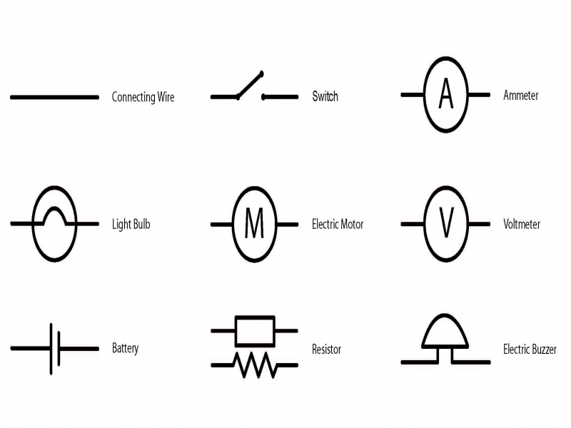electrical circuit wiring diagram symbols