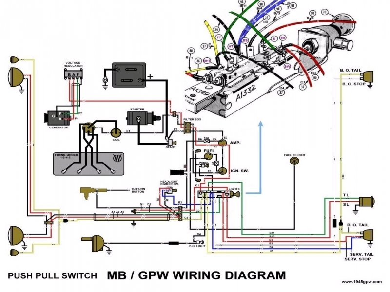g503 wwii willys and ford early 1941  1942 jeep wiring